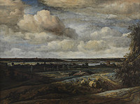 tablou philips koninck - panoramic landscape with the river in the distance (1654)