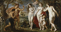 Tablou canvas rubens - the judgment of paris (1638)