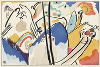 tablou wassily kandinsky - the blue rider , 1914