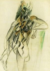 tablou picasso - debout, 1909