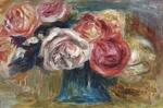 tablou Renoir - bouquet of roses in a vase