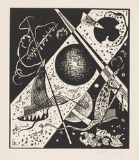 tablou wassily kandinsky - small worlds vi, 1922