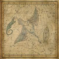 tablou star constellation, astrology map, 1820 (8)