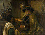 tablou rembrandt - pilate washes his hands, (1660)