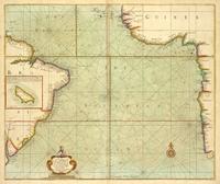 tablou the coast of guinea and brasil, 1702