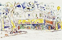 Tablou canvas paul signac - van gogh's house, arles, 1933