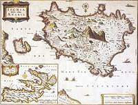 tablou harta veche ischia, italia