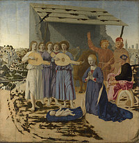tablou piero della francesca - the nativity
