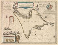 tablou Harta rara Patagonia, stramtoarea Magellan, 1635.jpg