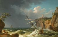 tablou jacob philipp hackert - a shipwreck (1776)