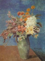 tablou picasso- vase of flowers [1901]