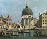 Tablou (f) canaletto - venice - s. simeone piccolo