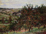 tablou claude monet   apple trees near vetheuil, 1878