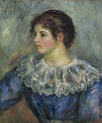 tablou pierre auguste renoir - portrait of a young girl, 1893