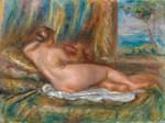Tablou canvas renoir - reclining nude, 1914