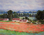 tablou claude monet   poppy field at giverny, 1885