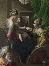 tablou parmigianino - the mystic marriage of saint catherine