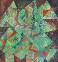 tablou paul klee - wald bau, 1919