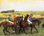 tablou 1885  edgar degas - chevaux aux courses