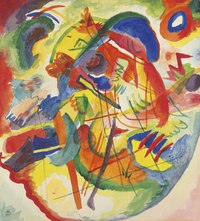 Tablou canvas wassily kandinsky - improvisation with red blue ring