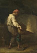 tablou jean francois millet - the winnower