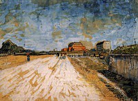 tablou van gogh - road running beside the paris ramparts