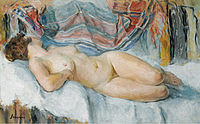 tablou henri lebasque - nude on the bed, 1905