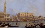 Tablou canaletto - view of the ducal palace in venice
