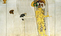 Tablou canvas Gustav Klimt - beethoven frieze (1902)