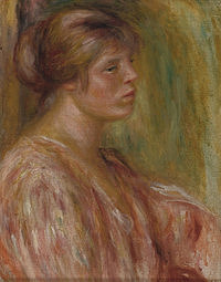 tablou pierre auguste renoir - portrait of a woman 02