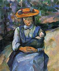 tablou paul cezanne - young girl with doll, 1902