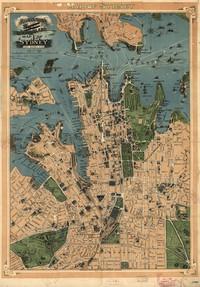 tablou map of sydney, 1922
