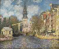 tablou claude monet - the zuiderkerk, amsterdam