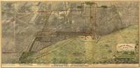 tablou bird's eye view of chicago, 1893