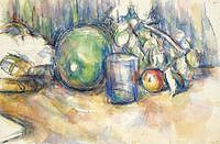 tablou paul cezanne - still life with melon, 1902