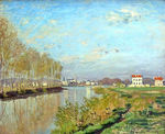 Tablou canvas claude monet   argenteuil, the seine, 1872