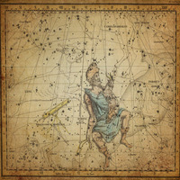 tablou star constellation, astrology map, 1820 (1)