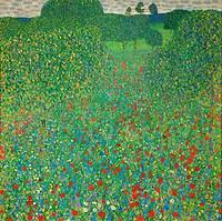tablou Gustav Klimt - poppy field (1907)