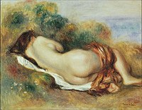 Tablou canvas piere auguste renoir - reclining nude, 1882