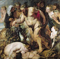 tablou rubens - drunken silenus