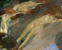 Tablou canvas Gustav Klimt - water (1897)