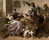 Tablou canvas jan steen - the way you hear it