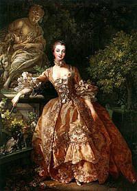 tablou francois boucher - portret marquise de pompadour (1759)