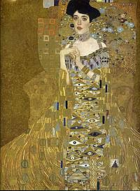 Tablou canvas Gustav Klimt - portrait of adele bloch bauer 1 (1907)