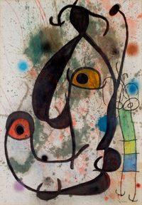 tablou joan miro - homme et femme, 1966