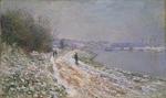 tablou claude monet - the tow path at argenteuil, winter, 1875