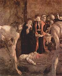 Tablou canvas michelangelo merisi de caravaggio - burial of st. lucia