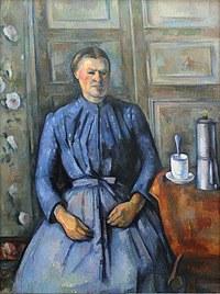 tablou paul cezanne - woman with a coffeepot, 1895