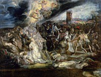 tablou rubens - the martyrdom of st. ursula and the ten thousand virgins