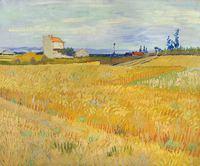 Tablou canvas vincent van gogh - landscape with cornfield